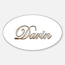 Gold Darin Decal