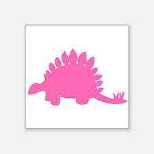 Stegosaurus Silhouette (Pink) Sticker