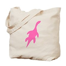 Plesiosaurus Silhouette (Pink) Tote Bag