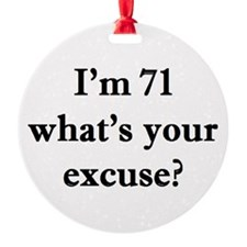 71 your excuse 2 Ornament