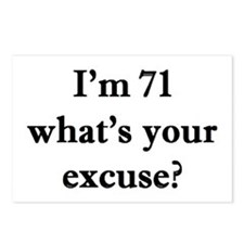 71 your excuse 2 Postcards (Package of 8)