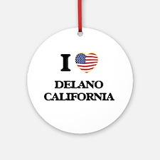 I love Delano California USA Desi Ornament (Round)