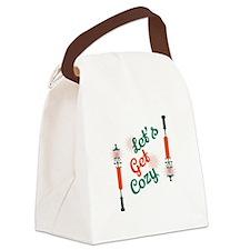 Lets Get Cozy Canvas Lunch Bag