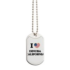 I love Dinuba California USA Design Dog Tags