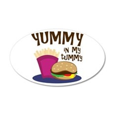 Yummy Tummy Wall Decal