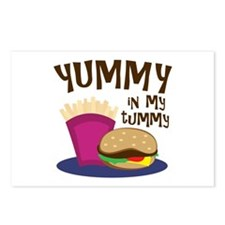 Yummy Tummy Postcards (Package of 8)