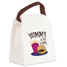 Yummy Tummy Canvas Lunch Bag