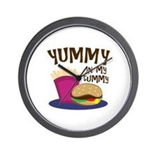 Yummy Tummy Wall Clock