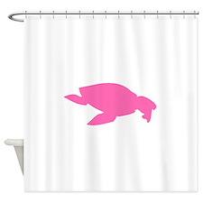 Archelon Ischyros Silhouette (Pink) Shower Curtain