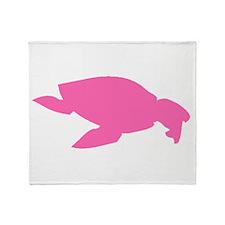 Archelon Ischyros Silhouette (Pink) Throw Blanket