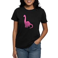 Brontosaurus Silhouette (Pink) T-Shirt