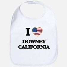 I love Downey California USA Design Bib