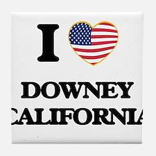 I love Downey California USA Design Tile Coaster