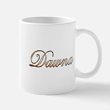 Gold Dawna Mugs