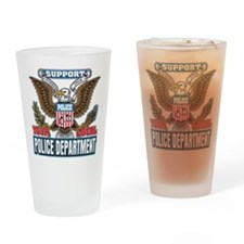 Support Your Local Police Drinking Glass