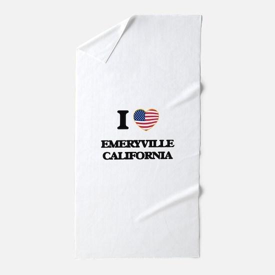 I love Emeryville California USA Desig Beach Towel