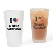 I love Eureka California USA Design Drinking Glass