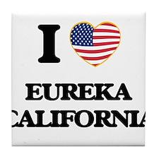 I love Eureka California USA Design Tile Coaster