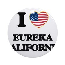 I love Eureka California USA Desi Ornament (Round)