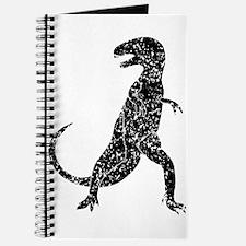 Distressed Tyrannosaurus Rex Silhouette Journal