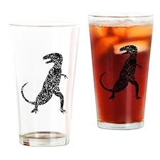 Distressed Tyrannosaurus Rex Silhouette Drinking G