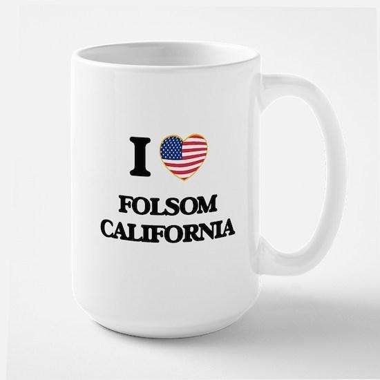 I love Folsom California USA Design Mugs