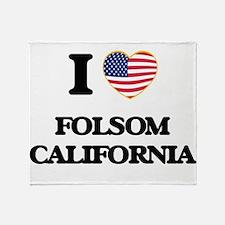 I love Folsom California USA Design Throw Blanket