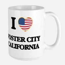I love Foster City California USA Design Mugs