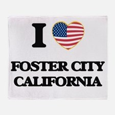I love Foster City California USA De Throw Blanket