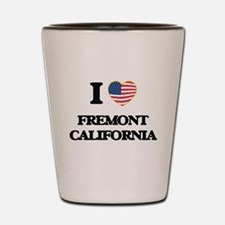 I love Fremont California USA Design Shot Glass