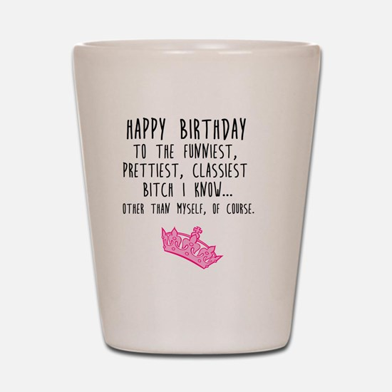 Cute Birthday Shot Glass