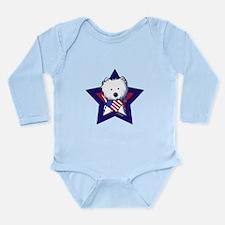 Star Speckled Westies Long Sleeve Infant Bodysuit