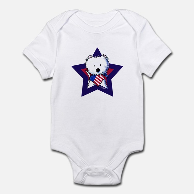 Star Speckled Westies Infant Bodysuit
