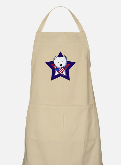 Star Speckled Westies Apron