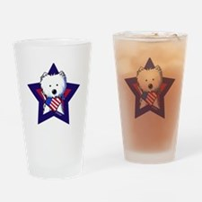 Star Speckled Westies Drinking Glass