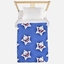 Star Speckled Westies Twin Duvet