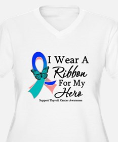 Thyroid Cancer Ribbon Plus Size T-Shirt