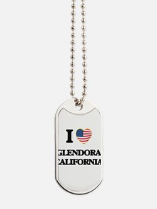 I love Glendora California USA Design Dog Tags