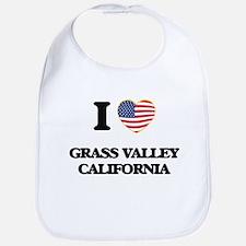 I love Grass Valley California USA Design Bib
