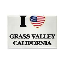 I love Grass Valley California USA Design Magnets