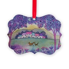 Foxes Ornament