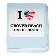 I love Grover Beach California USA De baby blanket