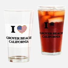 I love Grover Beach California USA Drinking Glass