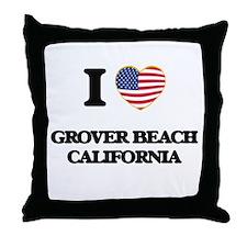 I love Grover Beach California USA De Throw Pillow