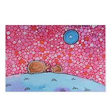 Kissing Hedgehogs Postcards (Package of 8)