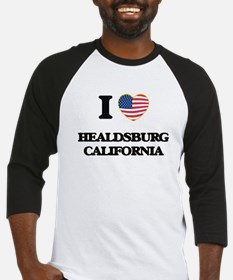 I love Healdsburg California USA D Baseball Jersey