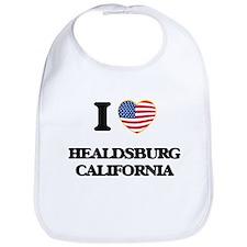 I love Healdsburg California USA Design Bib