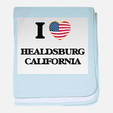 I love Healdsburg California USA Desi baby blanket