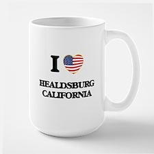 I love Healdsburg California USA Design Mugs