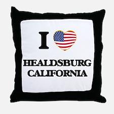 I love Healdsburg California USA Desi Throw Pillow